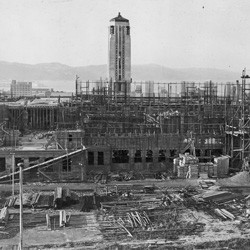 Dominion Museum, Mount Cook, Wellington, under construction, 1934.