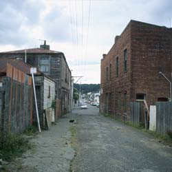 Tonks Avenue, Wellington, looking towards Arthur Street, 2000.
